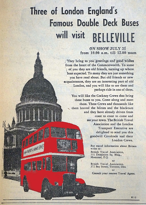 Article on double deck buses.
