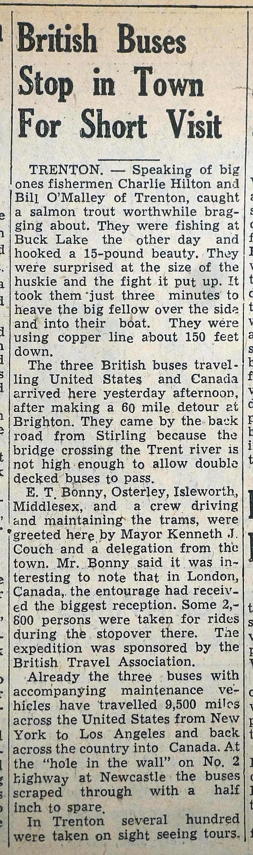 Newspaper article about buses.