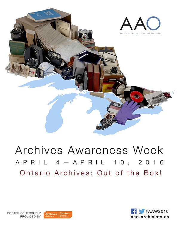 Archives Awareness Week poster, 2016
