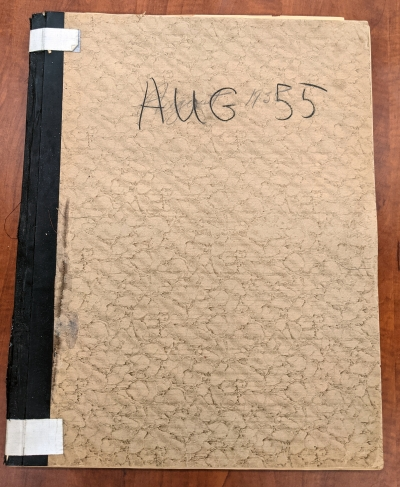 Bound newspapers for August 1955.