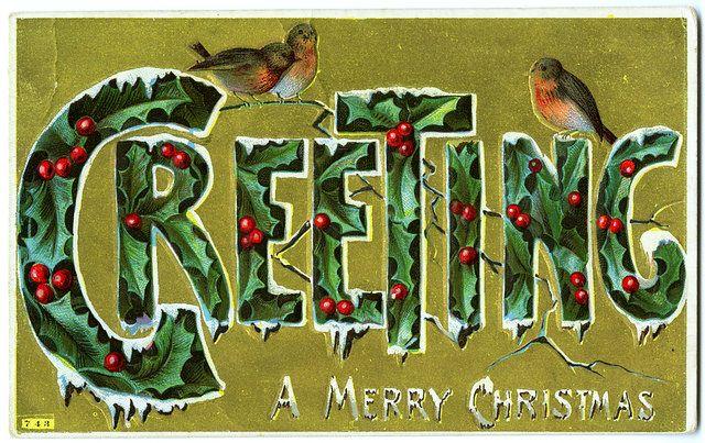 Christmas greetings postcard.