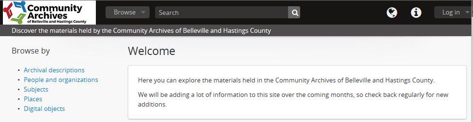 Screenshot of Discover website.