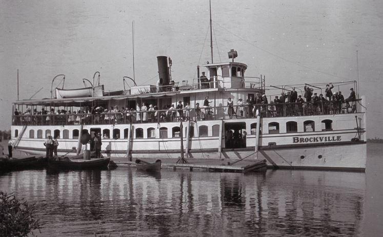 Steamer Brockville at Massassauga Point.