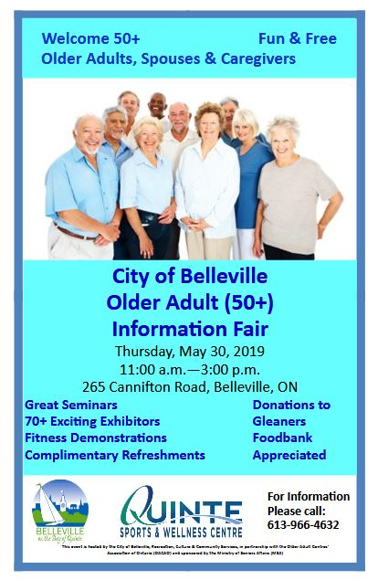 Poster for Older Adults information fair.