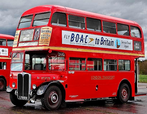 Double Decker bus in historic livery.