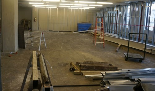 Room in early stages of being built.