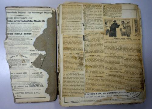 Mystery scrapbook