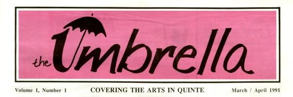 Masthead of first edition of Umbrella magazine, 1991